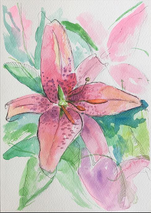 Flor I Acuarela